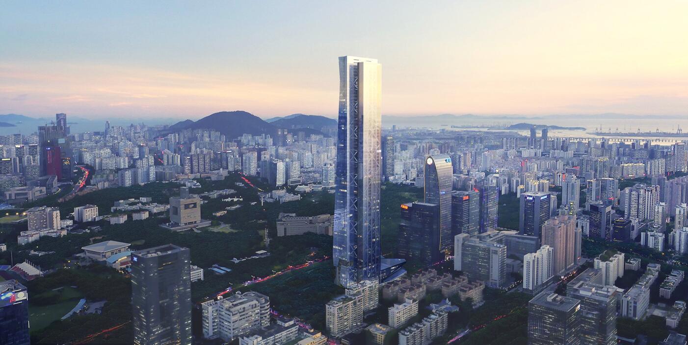 钢结构建筑汉京金融中心项目竣工