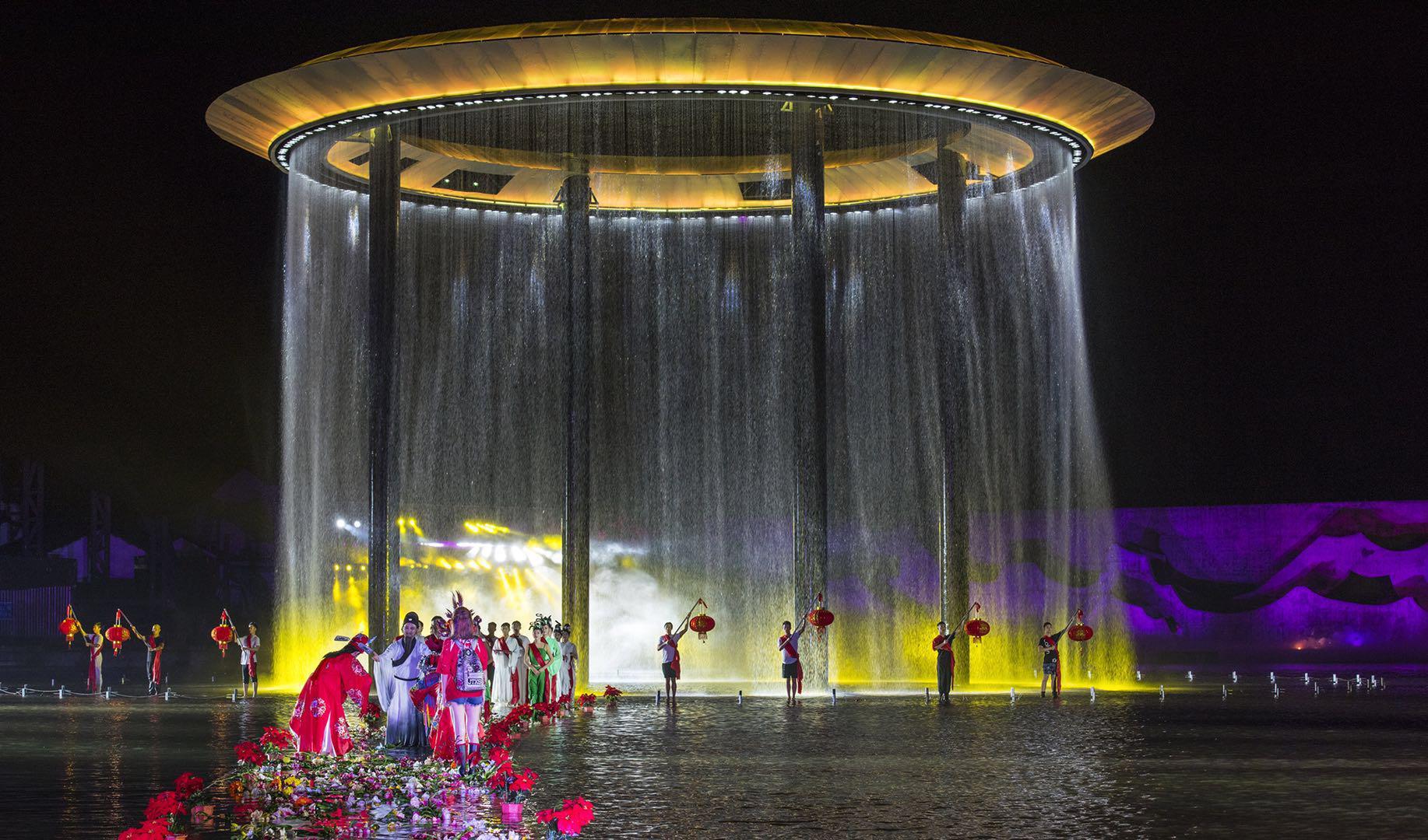 《寻梦牡丹亭》景区按5a级旅游景区进行规划设计,景区白天可作为主题